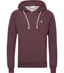 elm small owl hoodie sweat - gots/v hoodie trui paars knowledge cotton apparel