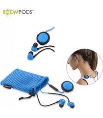 audifonos bluetooth sportpods race boompods resiste al sudor - negro/azul