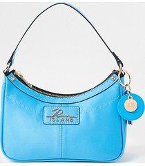 river island womens blue scoop shoulder bag