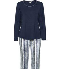 soft bamboo - long pyjamas pyjama blauw lady avenue
