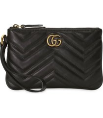 gucci gg marmont wrist wallet - black