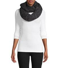 la fiorentina women's infinity textured scarf - black