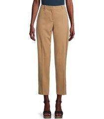 boss hugo boss women's tocanes stretch-virgin wool cropped pants - camel - size 6