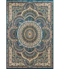 """asbury looms antiquities sarouk 1900 01262 58 teal 5'3"""" x 7'2"""" area rug"""