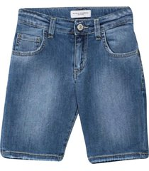 paolo pecora denim shorts with lightened effect