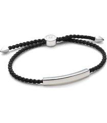 linear men's friendship bracelet, sterling silver