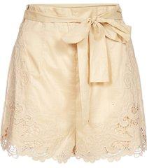 zimmermann brighton lace cotton shorts