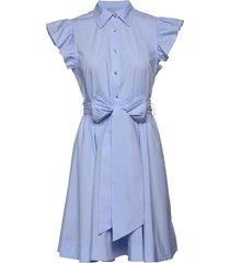 lira jurk knielengte blauw custommade