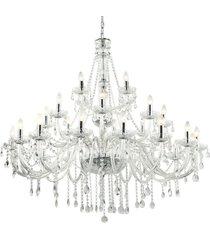 lustre candelabro de cristal maria tereza 28 braã§os - transparente - incolor - dafiti