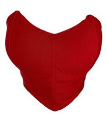 top cropped corselete tomara que caia vermelho