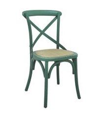 conjunto 02 cadeiras katrina verde rivatti