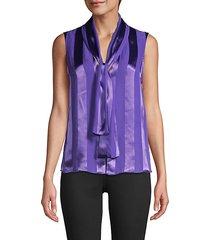 gwenda tie-front satin blouse