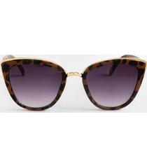 zo leopard cat-eye sunglasses - leopard