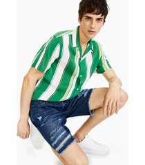 "inc international concepts men's regular-fit destroyed 9"" denim shorts, created for macy's"