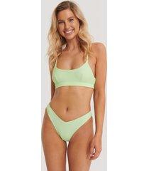 na-kd swimwear v-formad bikiniunderdel - green