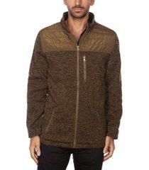 marqt men's sweater fleece jacket