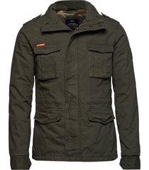 classic rookie military jacket dun jack groen superdry