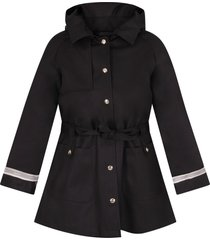 herno blue girl coat with logo