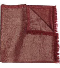 fabiana filippi metallic scarf - red