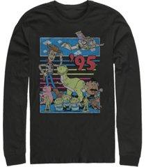 disney pixar men's toy story 95 retro distressed, long sleeve t-shirt