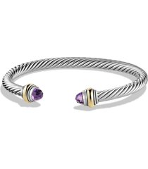 david yurman cable classics bracelet with semiprecious stones & 14k gold accent, 5mm, size small in amethyst at nordstrom