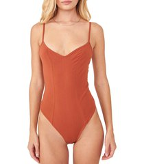 women's free people intimately fp last rose bodysuit, size x-small - coral