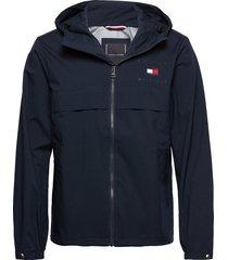 hooded jacket tunn jacka blå tommy hilfiger