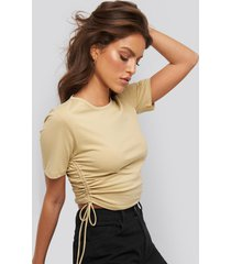xle the label clo drawstring tee - beige