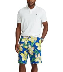 polo ralph lauren men's big & tall floral spa terry shorts