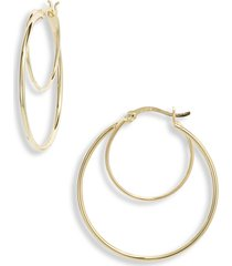 argento vivo sterling silver double ring hoop earrings in gold at nordstrom