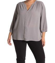 plus size women's nydj pintuck pleat crepe blouse, size 1x - orange