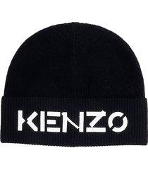 kenzo hats in black wool