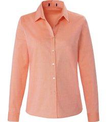 blouse 100% katoen lange mouwen van peter hahn oranje