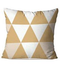 almofada avulsa decorativa bege triangular  35x35cm