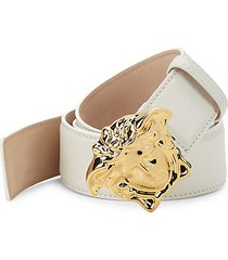 medusa buckle leather belt