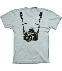 camiseta lu geek manga curta fotógrafo prata