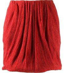 nina ricci micro-pleated mini skirt - red