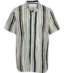 einar sx shirt aop 11515 overhemd met korte mouwen groen samsøe samsøe