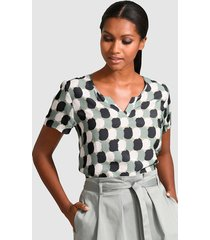 blouse alba moda marine::salie::wit