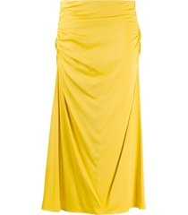 theory twisted draped skirt - yellow