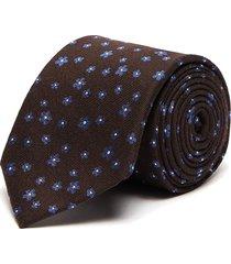 floral print silk wool blend tie
