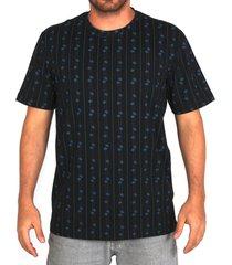 camiseta especial lost risca de giz saturno - preto - masculino - dafiti