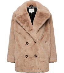 halley faux fur jacket outerwear faux fur beige by malina