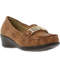 zapatos para mujer marca via spring color café via spring - marrón