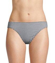 tommy bahama women's gingham reversible bikini bottom - black white - size xl
