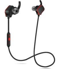audífonos bluetooth inalámbricos magnéticos manos libres - negro rojo