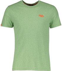superdry t-shirt - slim fit - groen