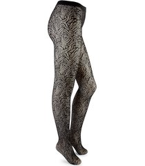 wolford women's true blossom fishnet tights - black - size xs