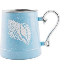 thirstystone by cambridge speckled shell decal beer mug