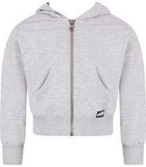 dimensione danza grey babygirl sweatshirt with logo